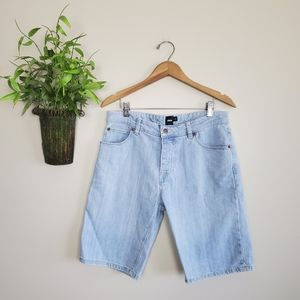 Asos high Waisted Button Fly Light Bermuda Shorts